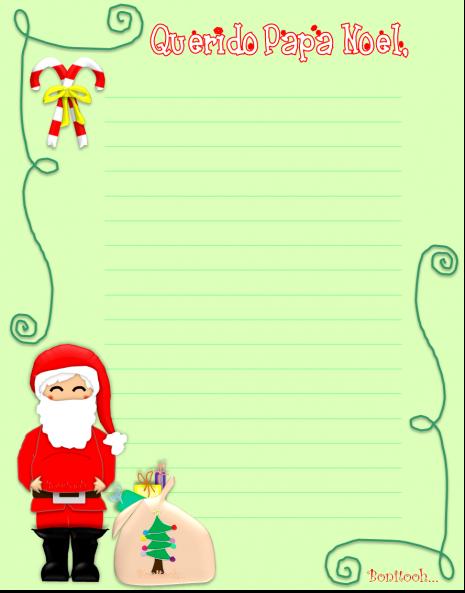 Carta A Papa Noel Para Los Regalos De Navidad Para Imprimir - Papa-noel-para-imprimir