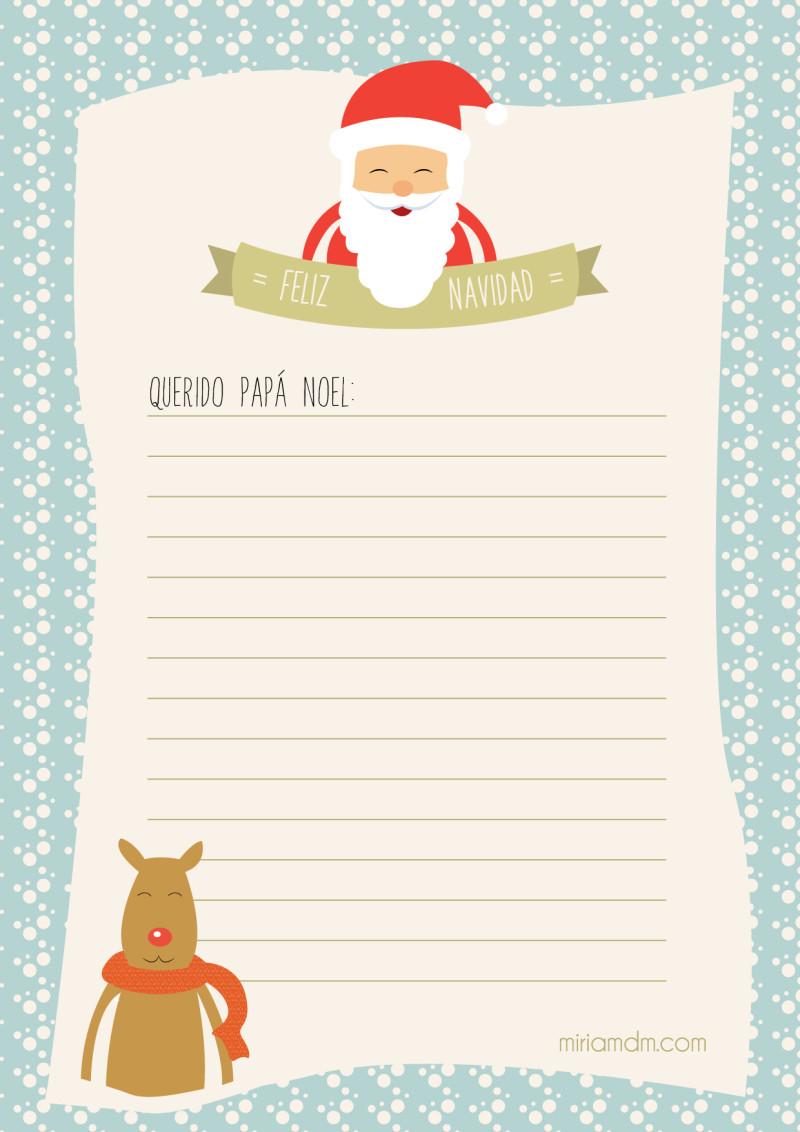 Carta a pap noel para los regalos de navidad para imprimir - Regalos navidad para padres ...