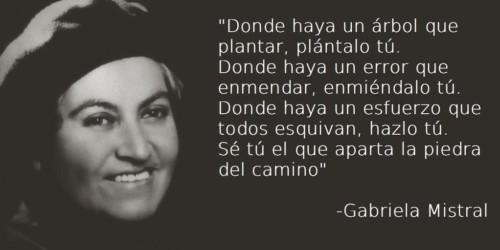Bonitas Frases Y Poemas De Gabriela Mistral En Imágenes