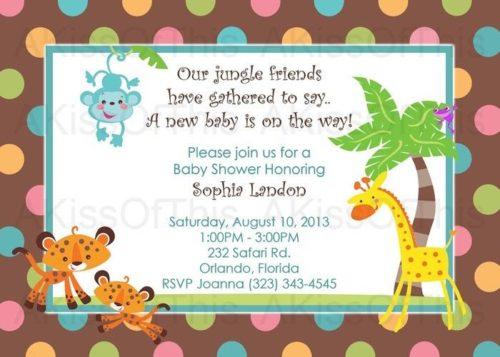 Ejemplos De Invitaciones De Baby Shower