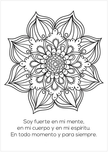 Imágenes de Mandalas con Frases Positivas y Mensajes para el Alma