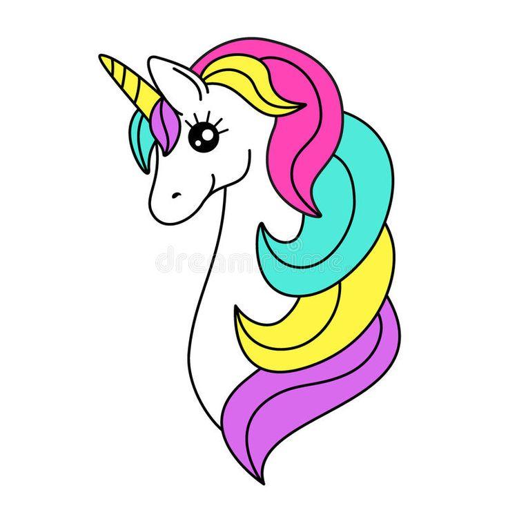 Imagenes De Unicornios Animados Kawaii Con Frases Para Colorear