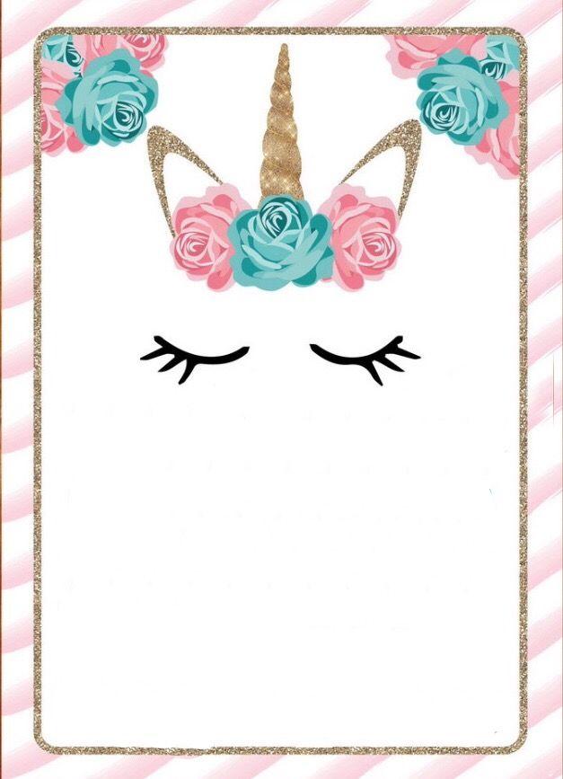 invitaciones de unicornio  u00bb tarjetas para descargar e