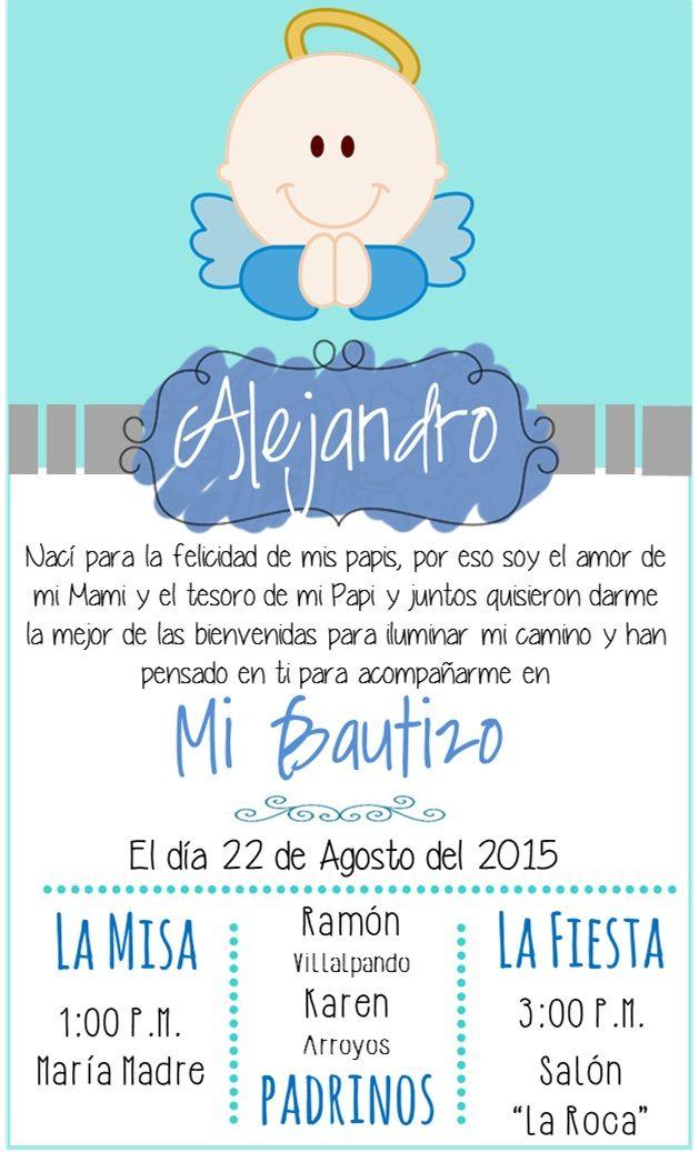be22bb715 Invitaciones de BAUTIZO para Niño y Niña Bonitas y Originales
